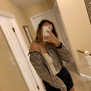 Jackets & Blazers - cheetah print jacket
